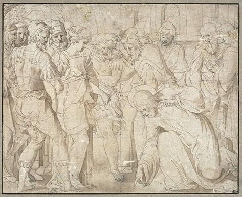 Leonard Thiry (+ um 1550 Antwerpen, tätig in Fontainebleau) Entwurf Louvre