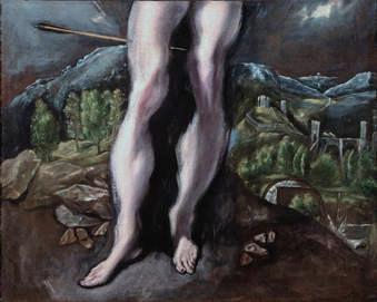El Greco, San Sebastian Prado, Detail