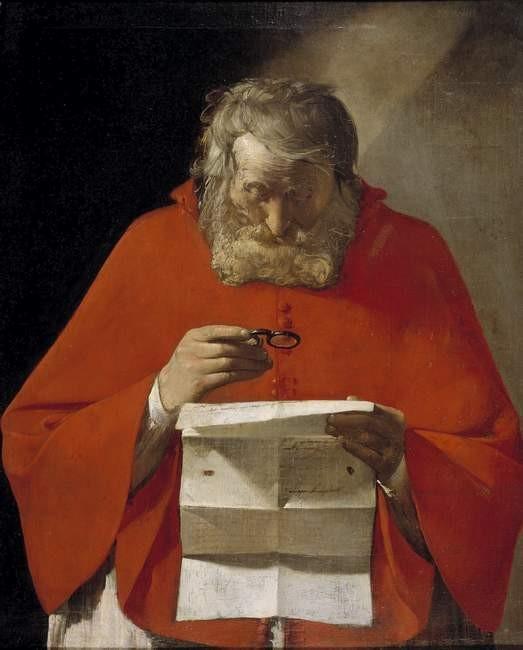 Georges  de la Tour (1593-1652), Hieronymus, Madrid Prado