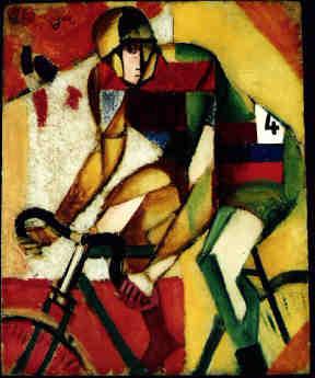 Jean Metzinger, Coureur cycliste  (1912), Öl/Carton; 27,2x22,2cm, Privatbesitz Schweiz