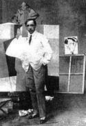Gino Severini im Atelier 1915