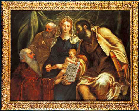 Tintoretto, Madonna mit Prokurator Girolamo Marcello,  1537,Kunsthandel Bosoni
