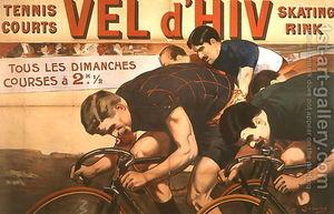 Plakat des Vélodrome d'Hiver, Paris 1910