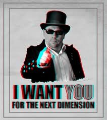 Plakat für 3D-Filme I want You for the nexr dimension