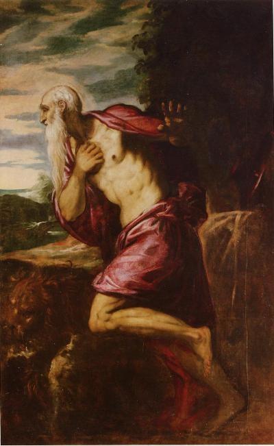 Tintoretto (& Bottega ?), Hieronymus nach 1580,S.Germain & S.Vincent ès Corbeil (Essonnes)
