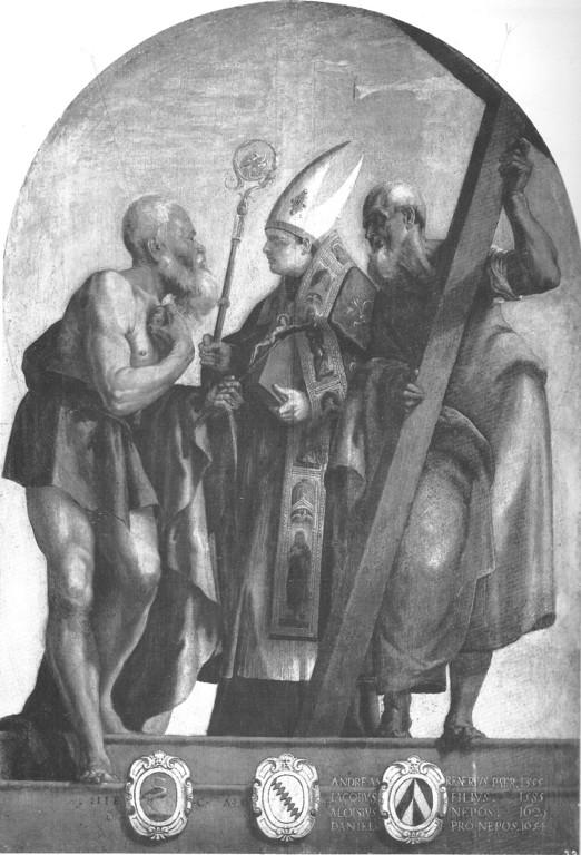 Tintoretto, I Santi Girolamo, Lodovico ed Andrea,  (Magistrato del Sale) 1555/56, Venezia, Gall. dell'Accademia