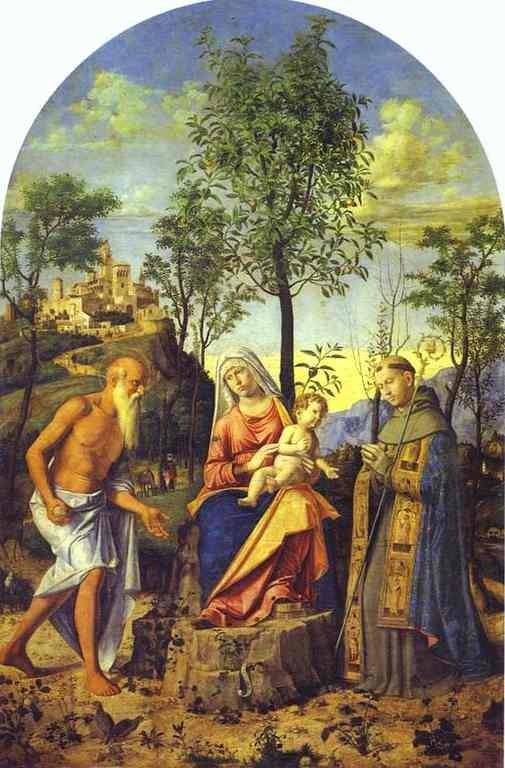 Cima da Conegliano (1449-1518), Madonna dell'Arancio, 1497/98, Venedig, Gall.d.Accademia