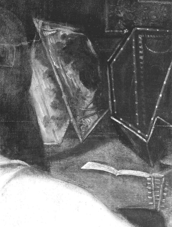 Domenico T.,Tarquin & Lukrezia, Prado; Detail des Virginals