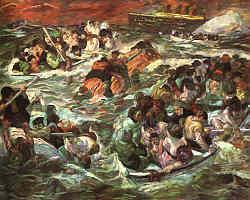 Max Beckmann (1884-1950), Untergang der Titanic 1912, St.Louis Art Museum USA