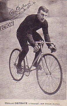 Defraye Sieger der Tour de France 1910 auf Alcyon