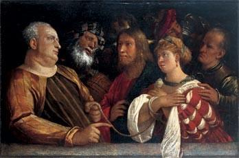 Giovanni Cariani (um1485-1547 Venedig), Musée Magnin, Dijon, Lw.82x126cm