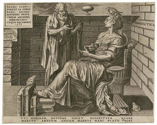 Cornelis Cort nach Frans Floris (Hieronymus Cock 1565), Dialektik