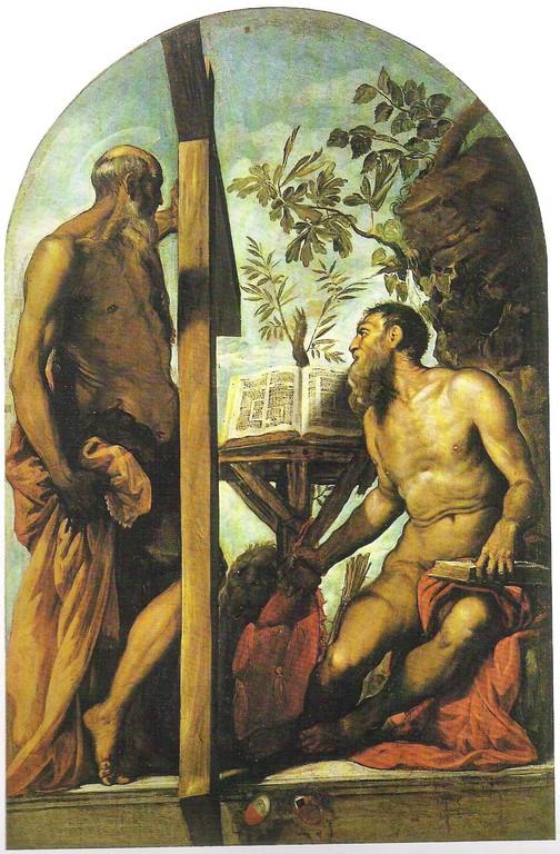 Jacomo Tintoretto, Sant'Andrea e San Girolamo 1552, Gallerie dell'Accademia, Venedig