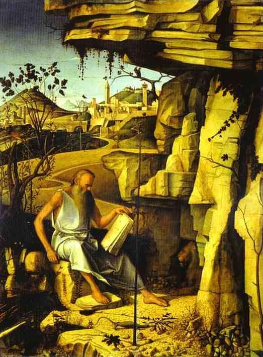 Giovanni Bellini (1430-1510), San Girolamo 1482-85, Florenz Uffizien
