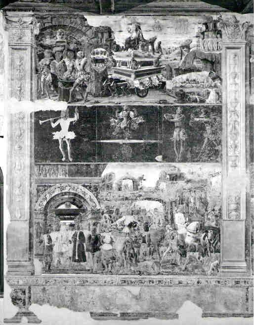 Ercole de Roberti, Septemberfresko Schifanoia, Ferrara Gesamtansicht