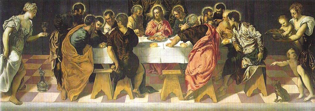 1)Jacopo Tintoretto, Ultima Cena 1547, Venedig, San Marcuola