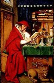 Jan Van Eyck(1390-1441)/ Petrus Christus?, Hieronymus im Gehäus 1442, Detroit Inst.of Art