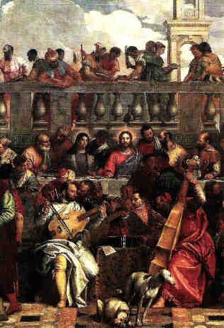 """Paolo Veronese, Hochzeit zu Cana, Detail des """"Künstlerkonzerts"""""""