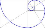 mathematisch-geometrische Konstruktion der Goldenen Spirale