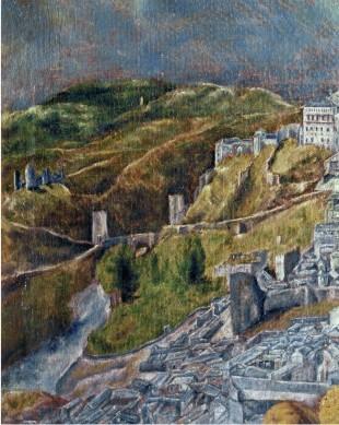 Toledo-Vedute und Plan, Detail: Ausschnitt wie Vedute New York (von Norden)