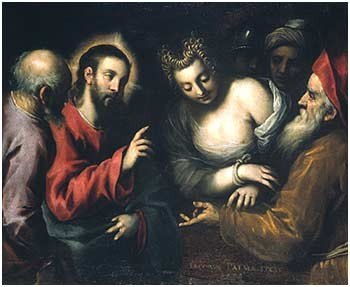 "Jacopo Palma Giovane(1544-1628), ""1599"" sig.&dat. Gall. di Palazzo bianco Genova"