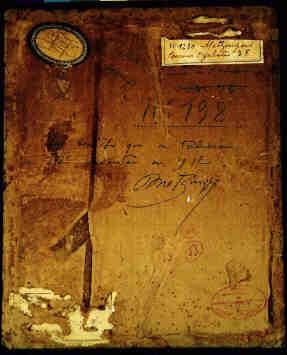 idem, Rückseite, 27,2x22,2cm; Öl auf Pappe mit Sand, Signatur 1912