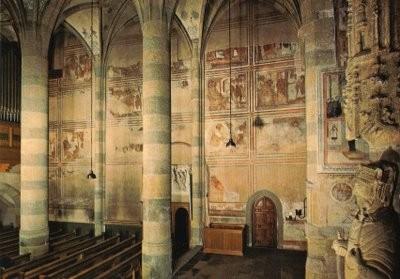 Müstair Klosterkirche, Nordwandfresken um 800