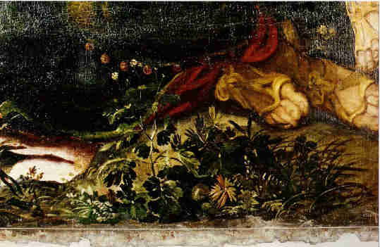 Gesuiti, Detail: Blumenstück rechts