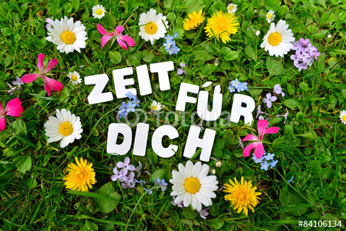 Blumenwiese: Zeit für dich