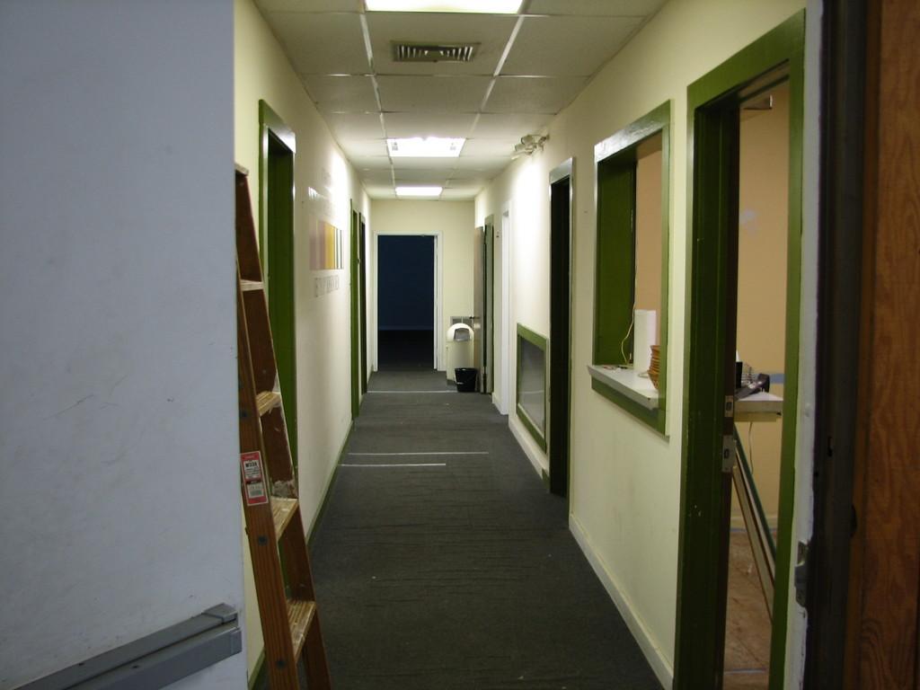 Hallway door leading from main sanctuary