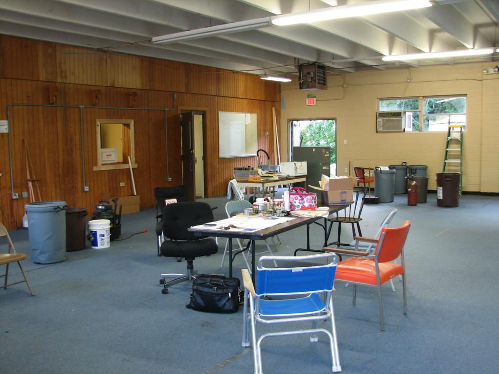 Main sanctuary looking toward kitchen area (hall door is open)