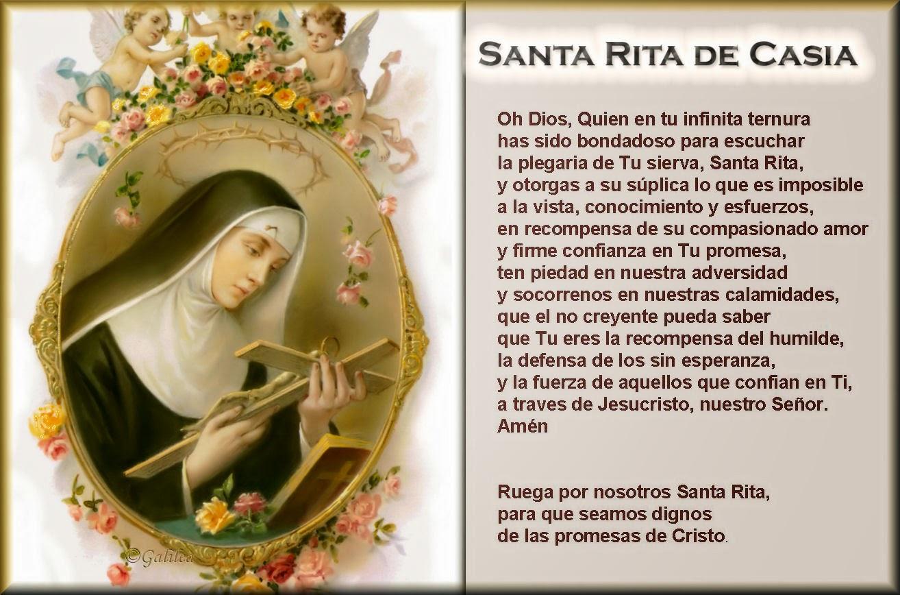 Novena Santa Rita De Casia Red Mundial Cristiana De Oración Rmco