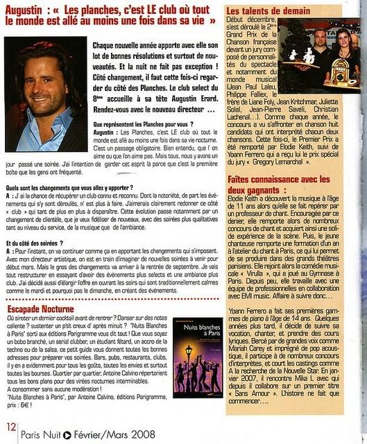 ARTICLE POUR UNE VOIX  2007
