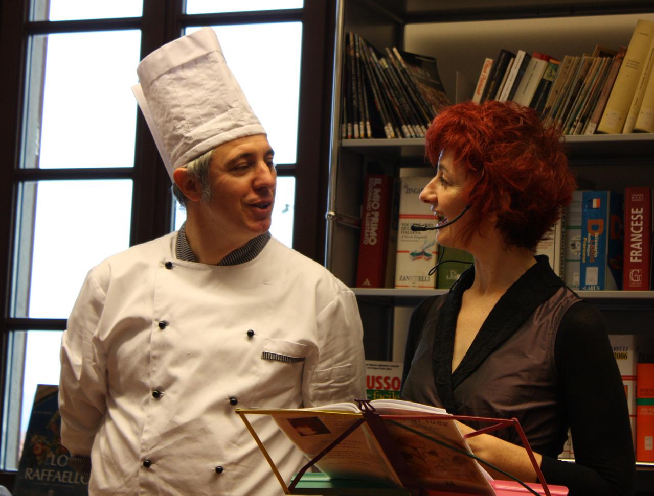 Poesie di fiori e buffet di petali con lo chef Elvio Beretta