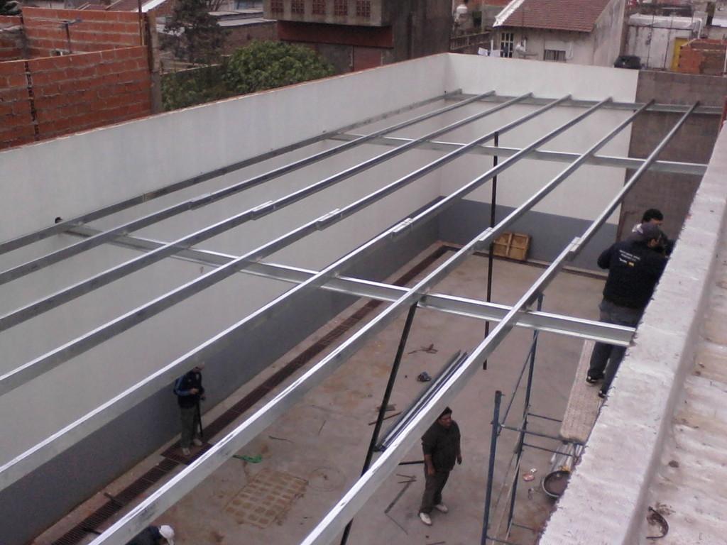 Techos con perfil c gabriel solo techos for Como encielar un techo