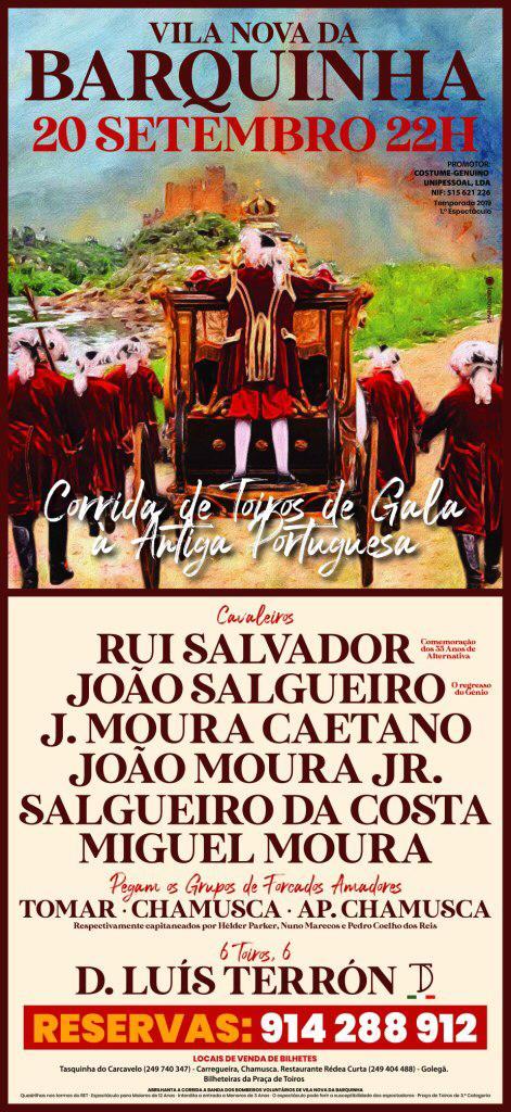 Corrida de Toiros de Gala à Portuguesa Dia 20 - Vila Nova da Barquinha