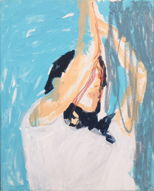 Catch! , 50x40cm , acrylic on canvas