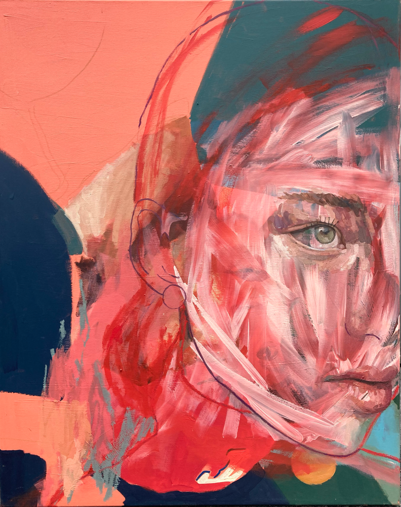 Red , 100x80cm , acrylic on canvas