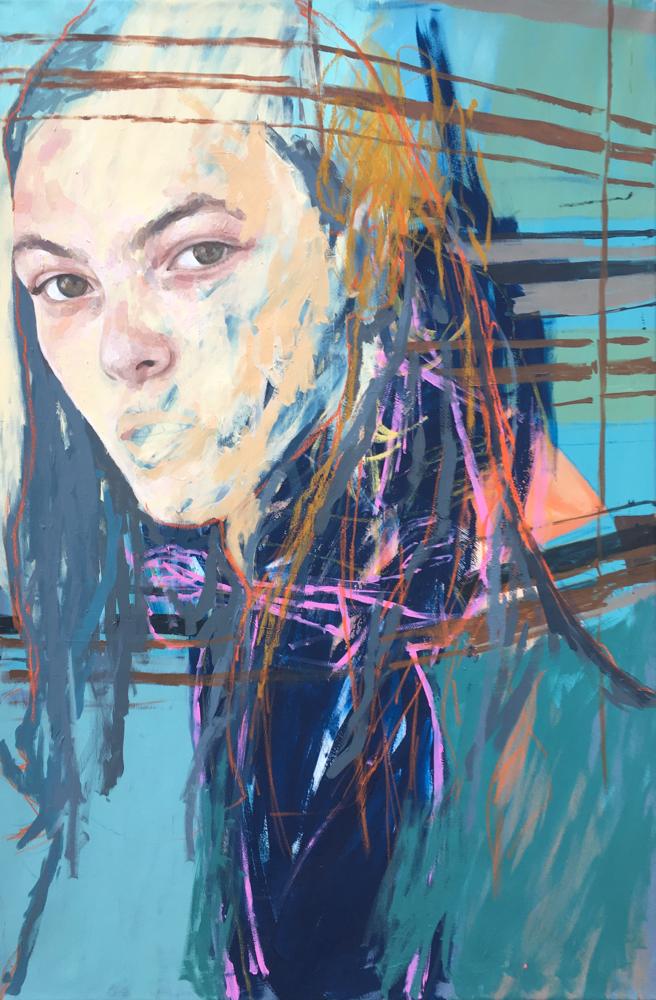 Vittoria , 150x100cm , acrylic on canvas , AtelierSaranova.com