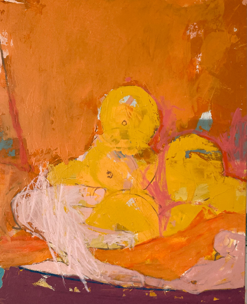 Orange , 100x80cm , acrylic on canvas