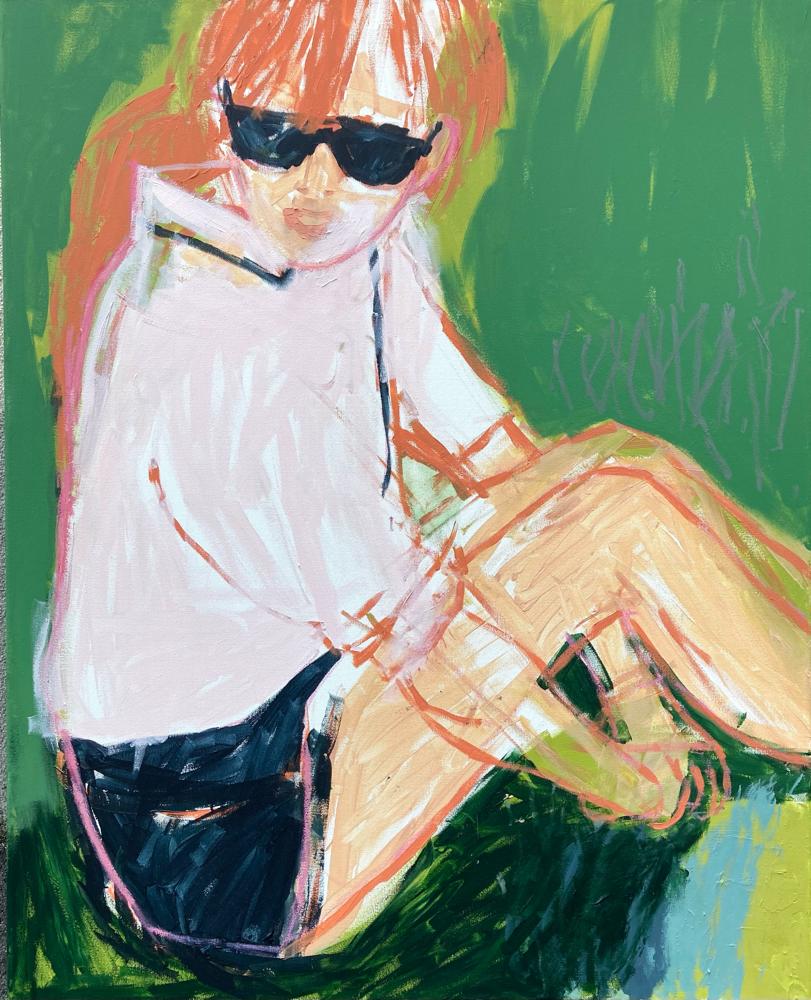Green, 100x80cm , acrylic on canvas