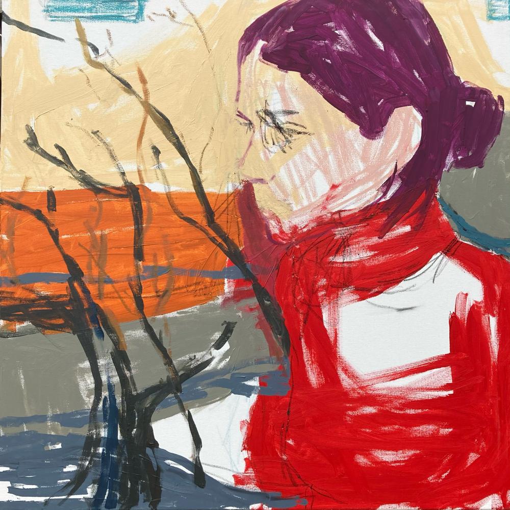 Angelika 2 , 80x80cm , acrylic on canvas