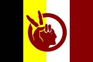 Flagge mit den Logo des American Indian Movement