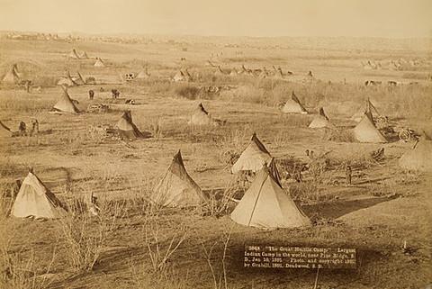 Typisches Lakotalager