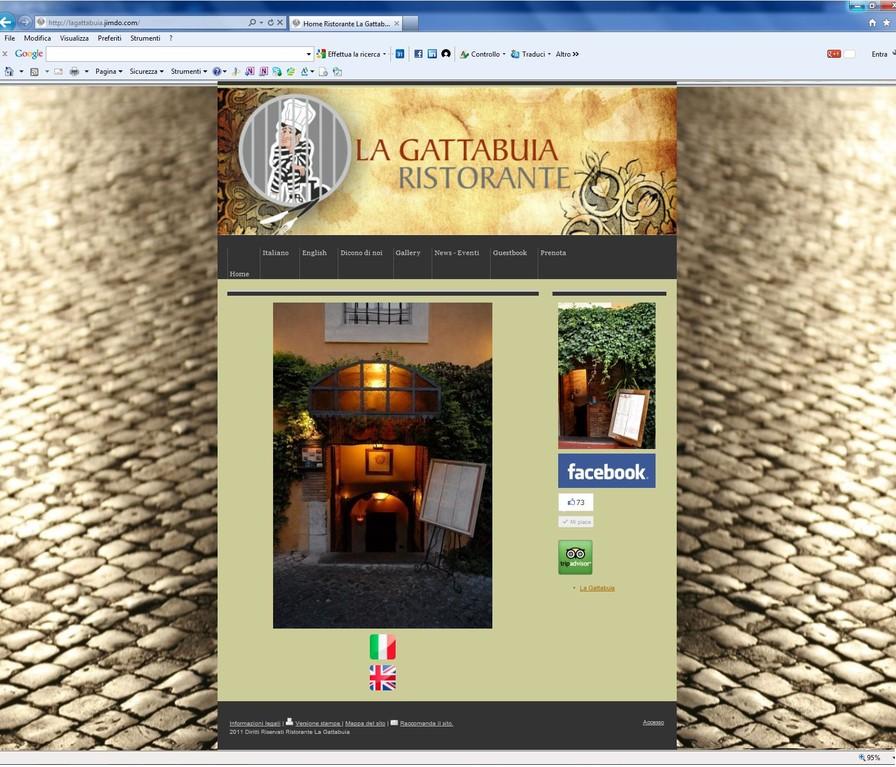 Ristorante La Gattabuia - Realizzazione sito web www.lagattabuia.it