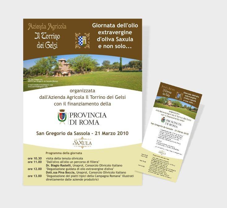 """Azienda Agricola """"il Torrino dei Gelsi""""  -  Locandina e invito evento"""