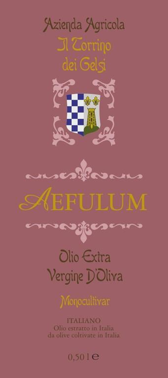 """Azienda Agricola """"il Torrino dei Gelsi""""- Etichetta olio di pregio produzione limitata"""