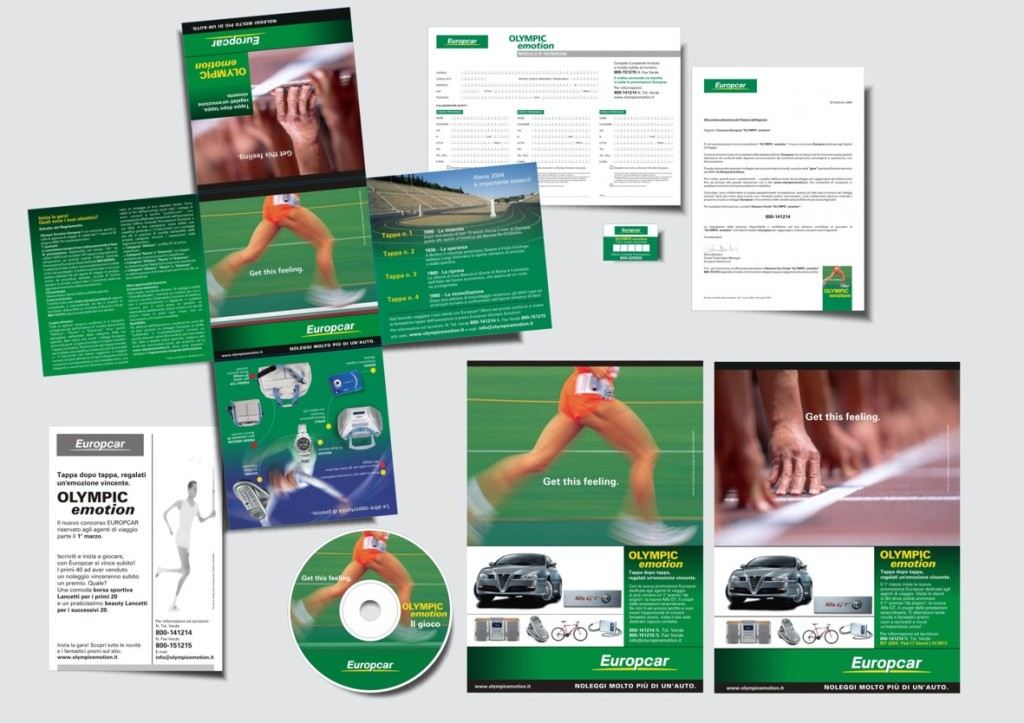 Europcar - Operazione d'incentivazione al trade - materiale di comunicazione