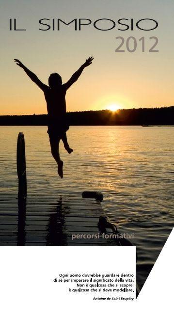 Il Simposio Percorsi formativi - Firenze - copertina Brochure 2012