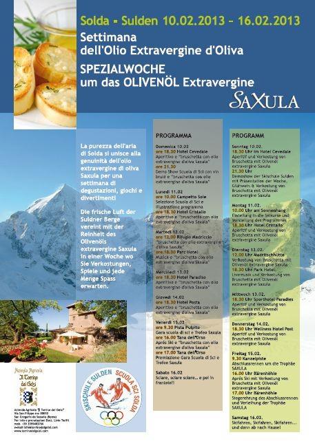 """Azienda Agricola """"il Torrino dei Gelsi""""- Locandina """"settimana dell' olio extravergine di oliva a Solda"""""""